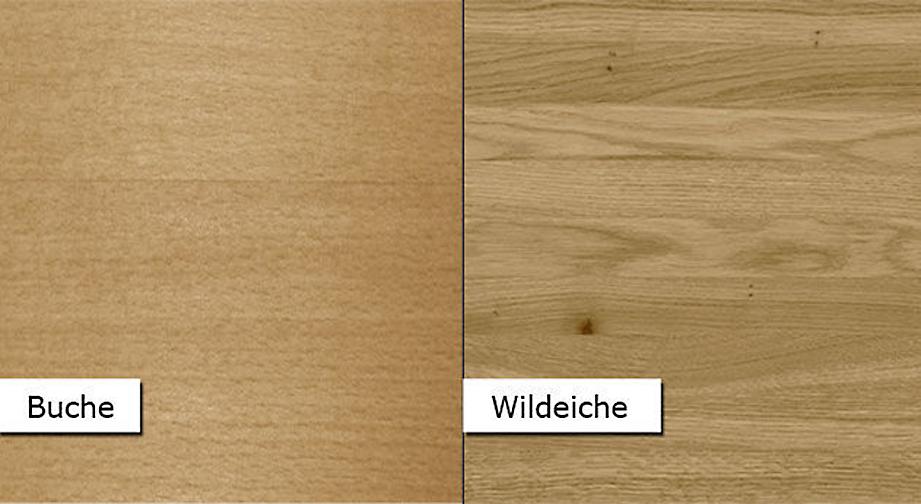 Holz-Materialmuster aus Buche und Wildeiche