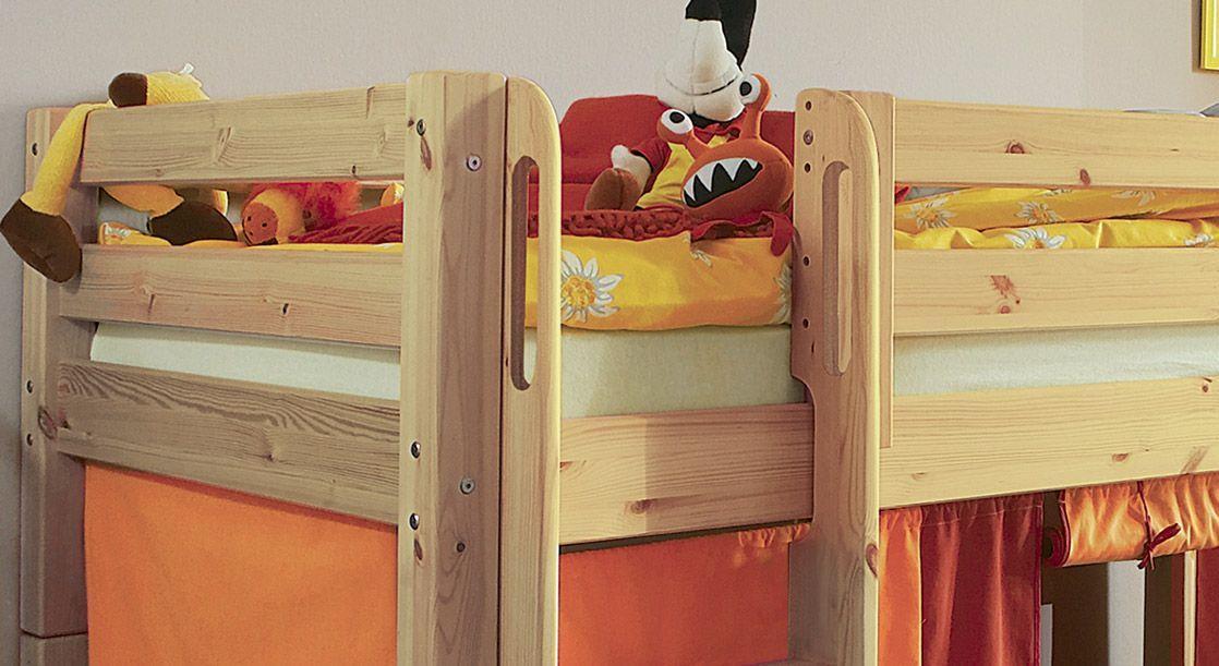 Kinderbett Midi-Hochbett Kids Paradise gerade Leiter