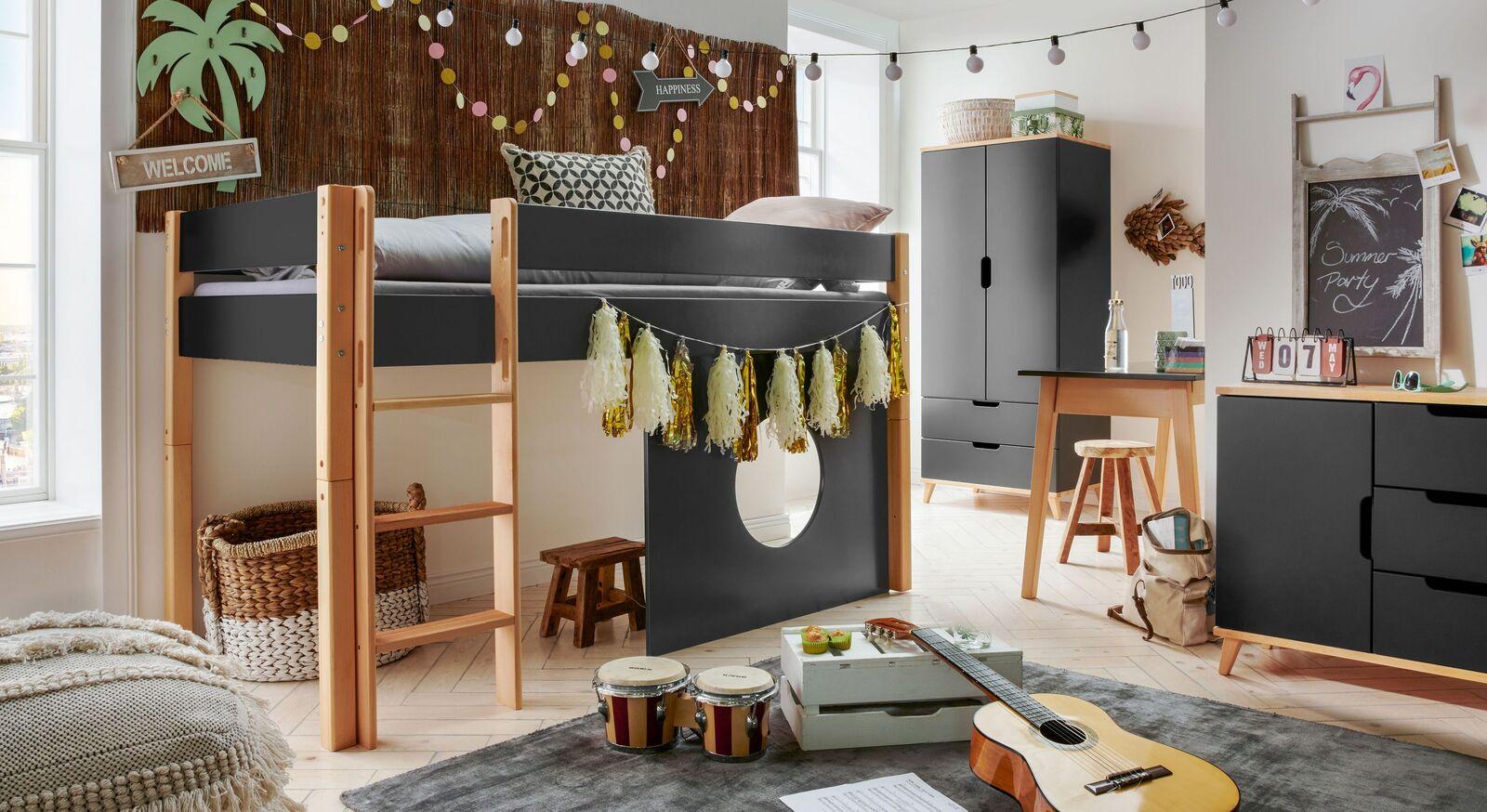 Mini-Hochbett Kids Nordic Boys mit passender Zimmereinrichtung