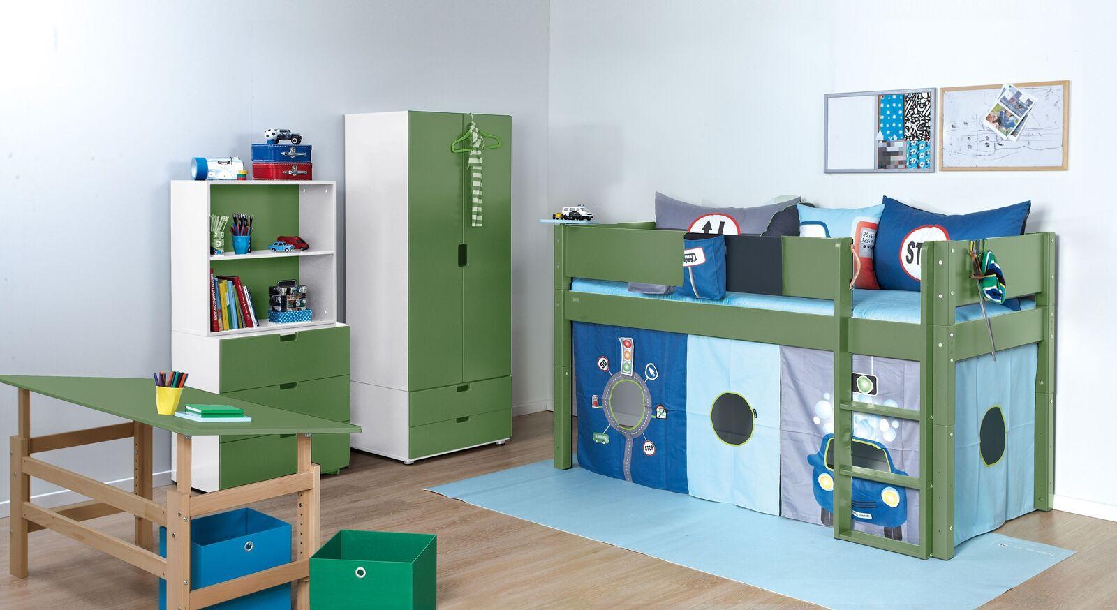 Mini-Hochbett Kids Town Color mit passendem Zubehör