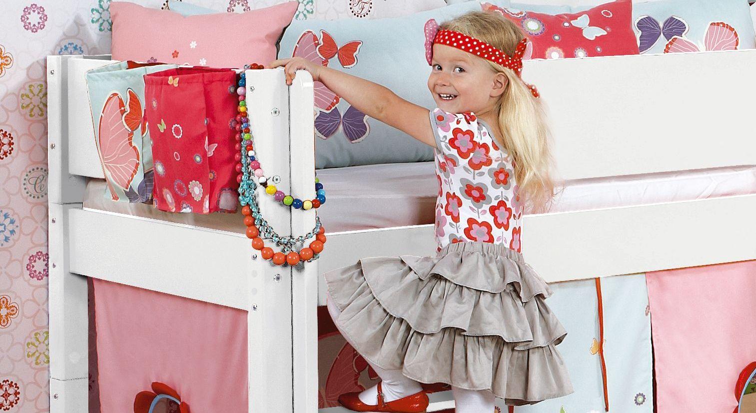 Mini-Rutschen-Hochbett Kids Town mit einfachen Einstieg