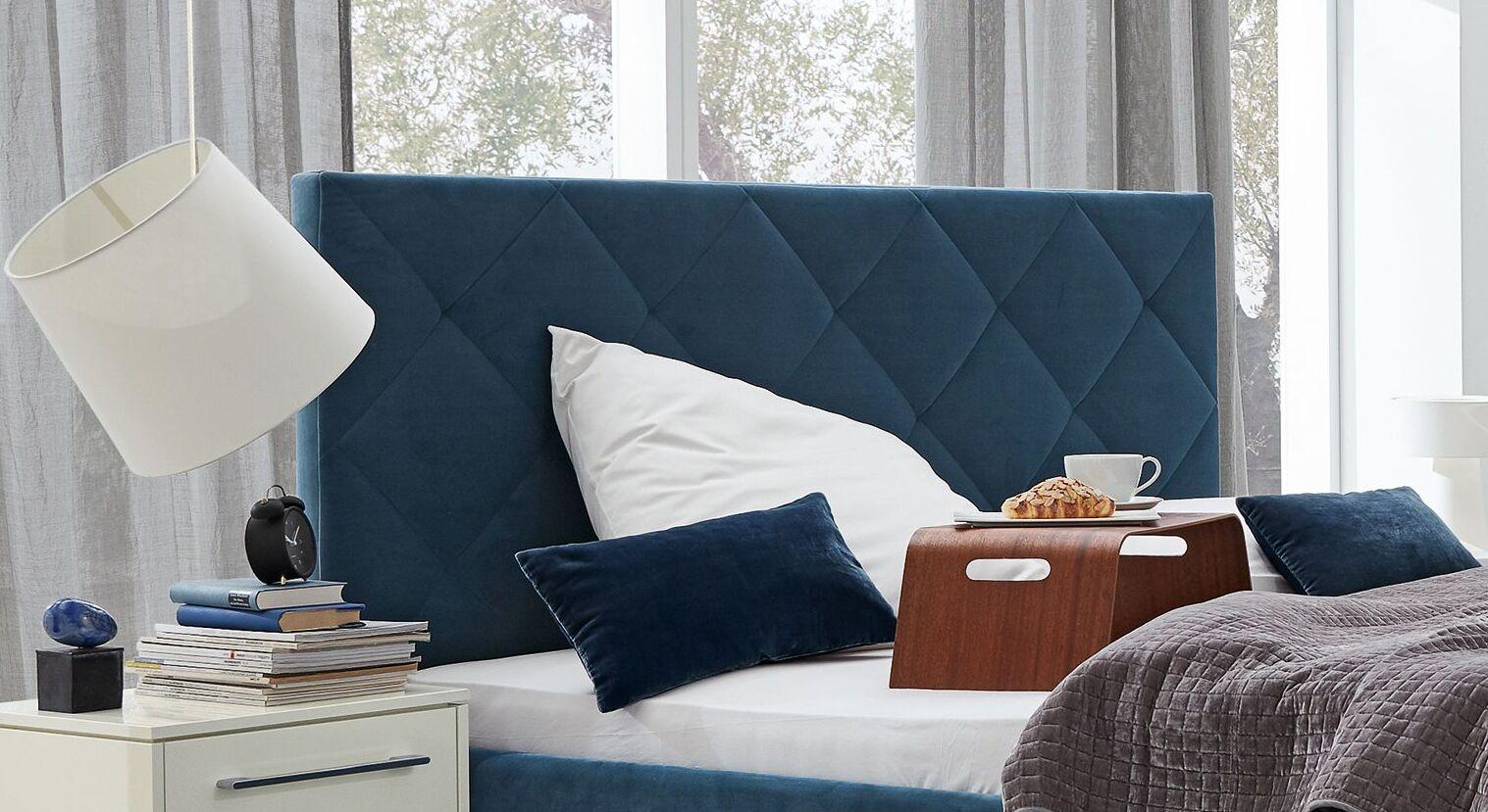 MUSTERRING Bett Epos mit Kopfteil in Rautensteppung in Marken-Qualität