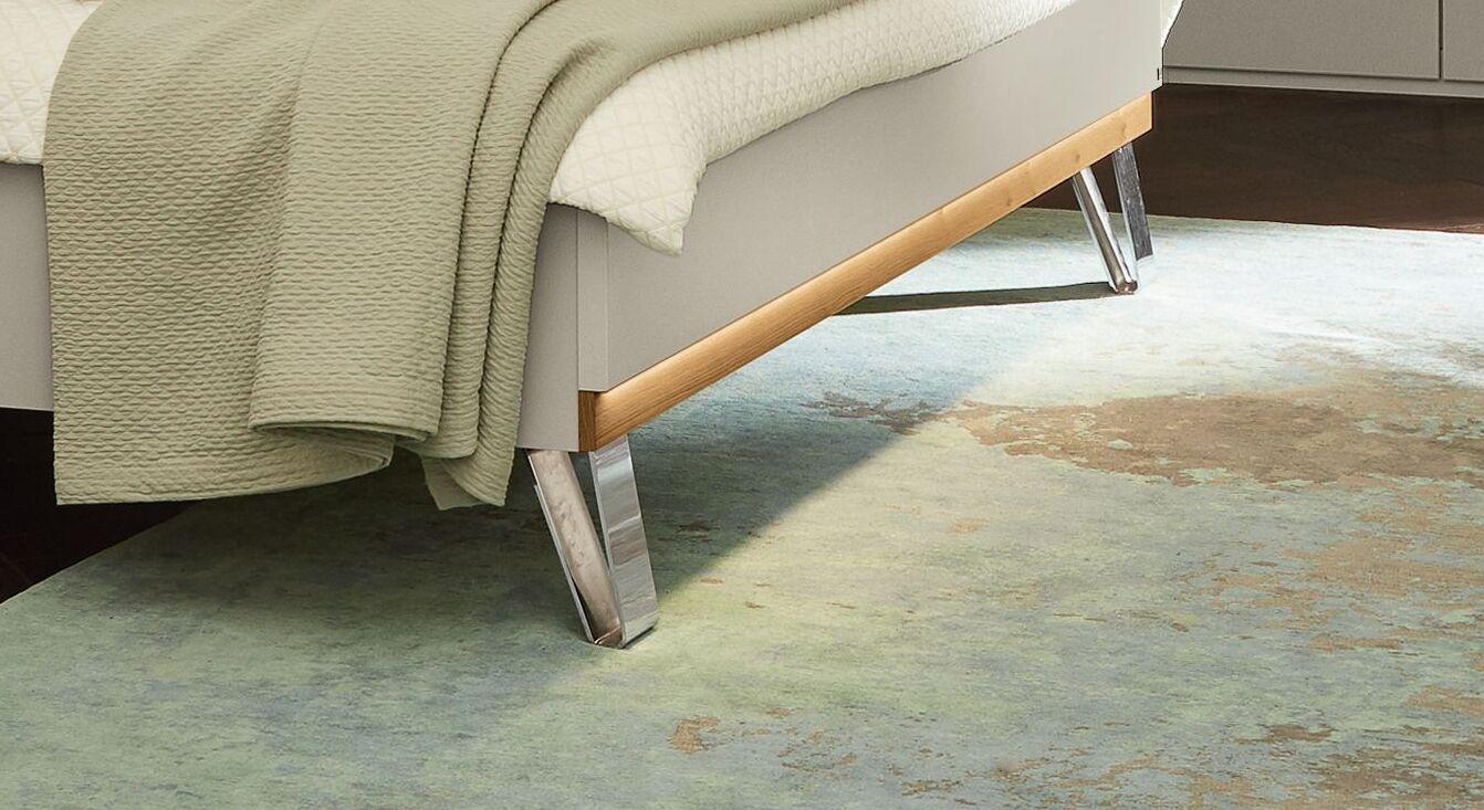 MUSTERRING Bett Saphira kieselgrau mit attraktivem Fußbereich