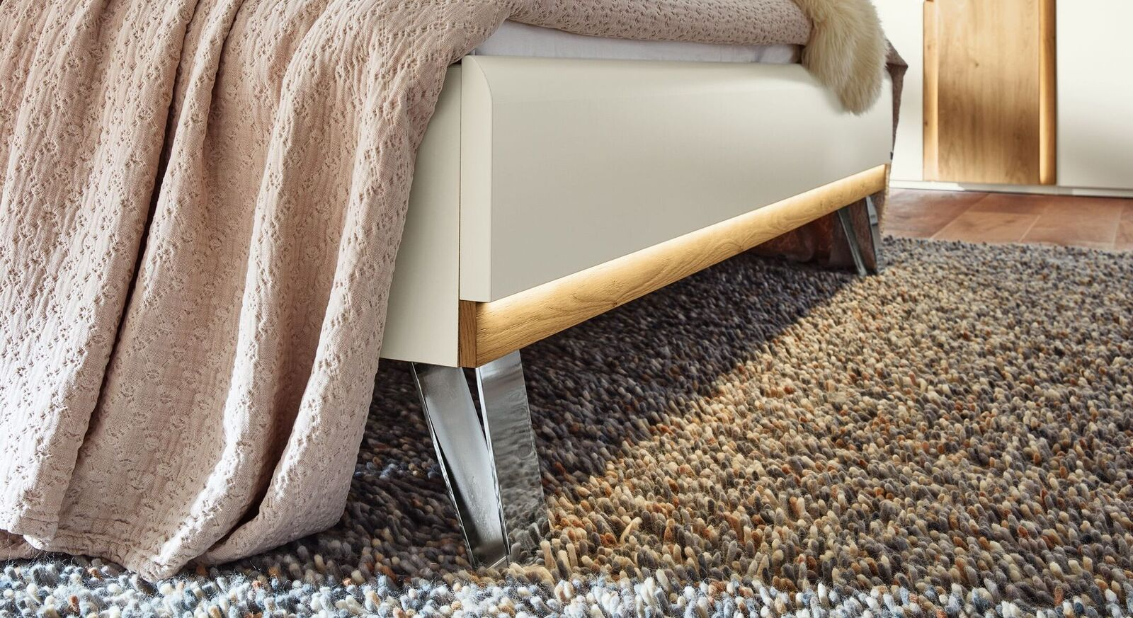 Musterring Bett Saphira Weiß mit Komfort-Bettrahmen