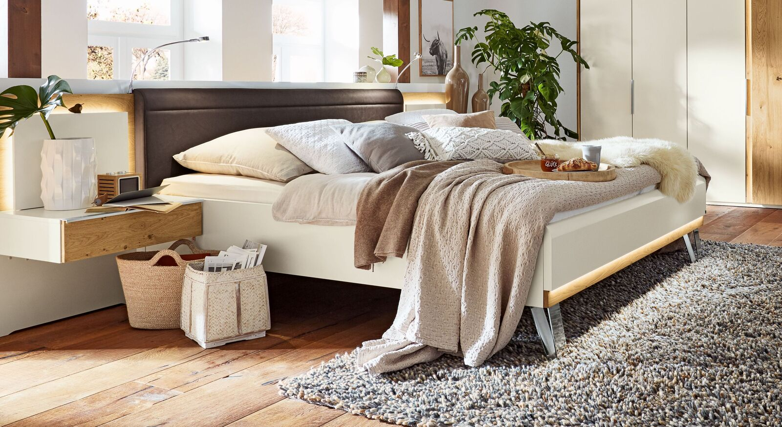 Musterring Bett Saphira Weiß inklusive Kopfteil