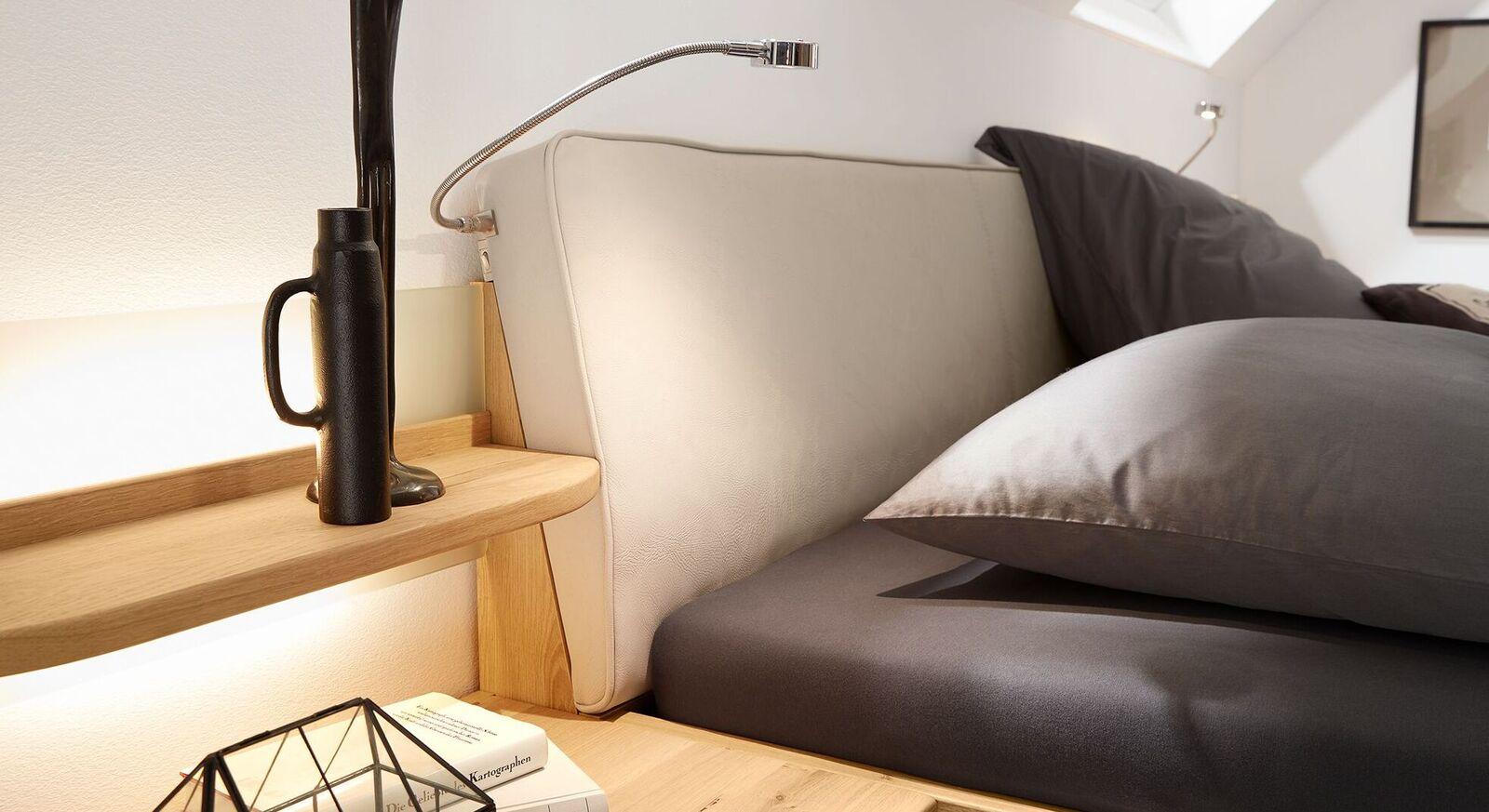 MUSTERRING Bett Savona 2.0 mit Polsterkopfteil und Kunstlederbezug