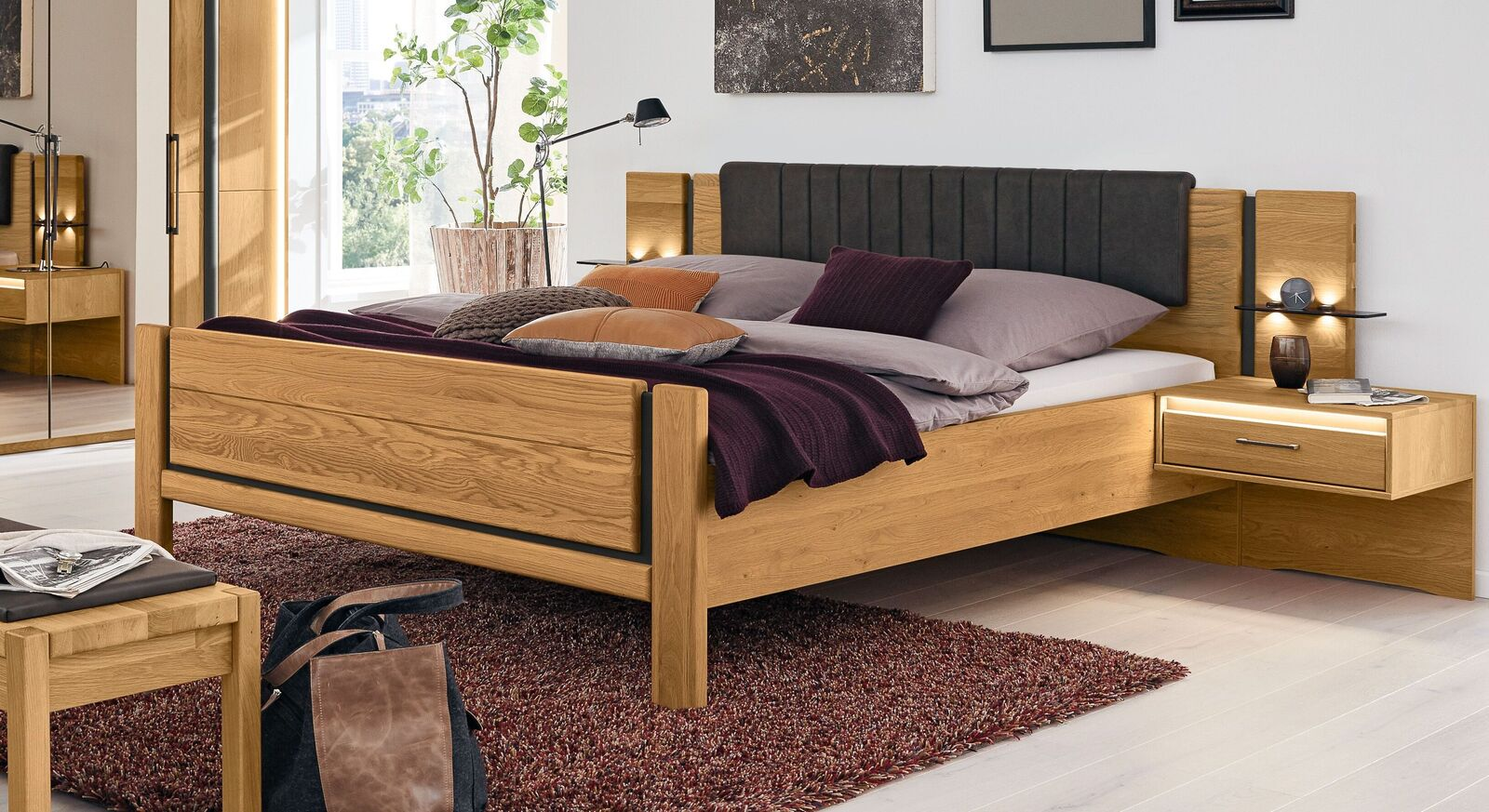 Robustes MUSTERRING Bett Sorrent in Komfort-Rahmenhöhe