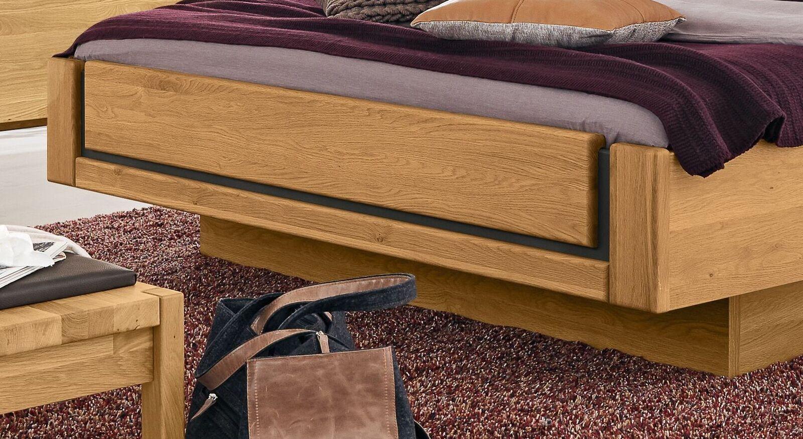 MUSTERRING Bett Sorrent in Schwebeoptik mit attraktivem Fußteil