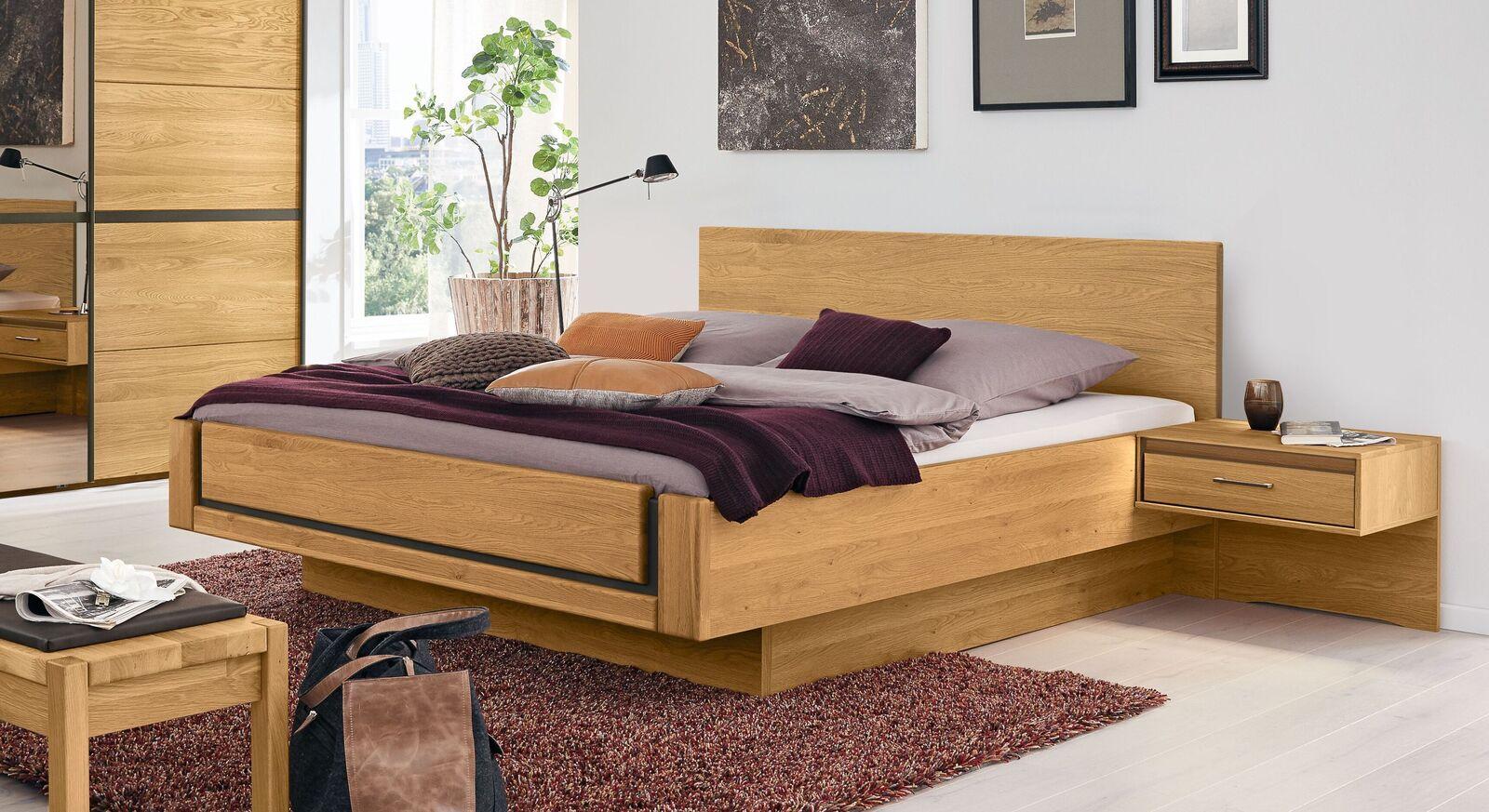 MUSSTERRING Bett Sorrent in Schwebeoptik in Komfort-Höhe