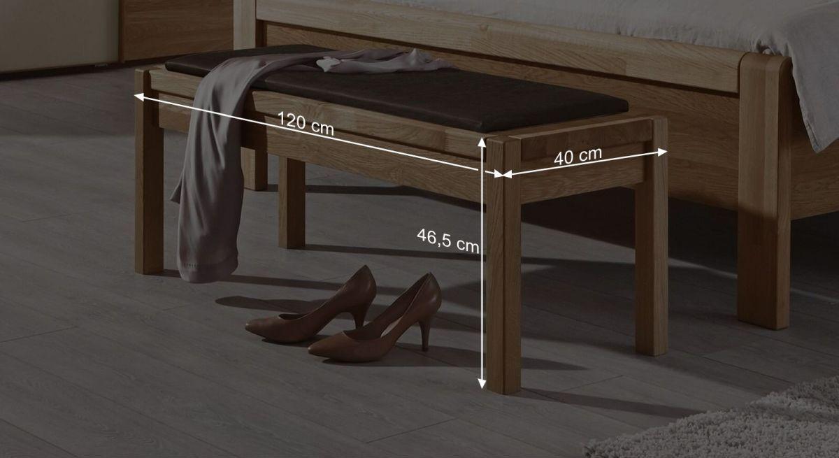Bemaßungs-Grafik zur Musterring Bettbank Samoa