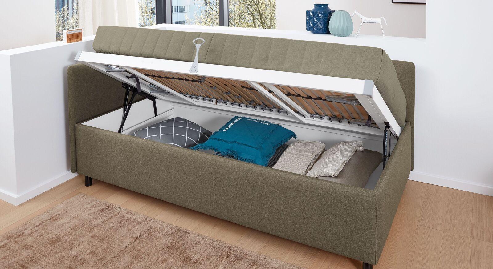 MUSTERRING Bettkasten Elpaso mit integriertem Stauraum