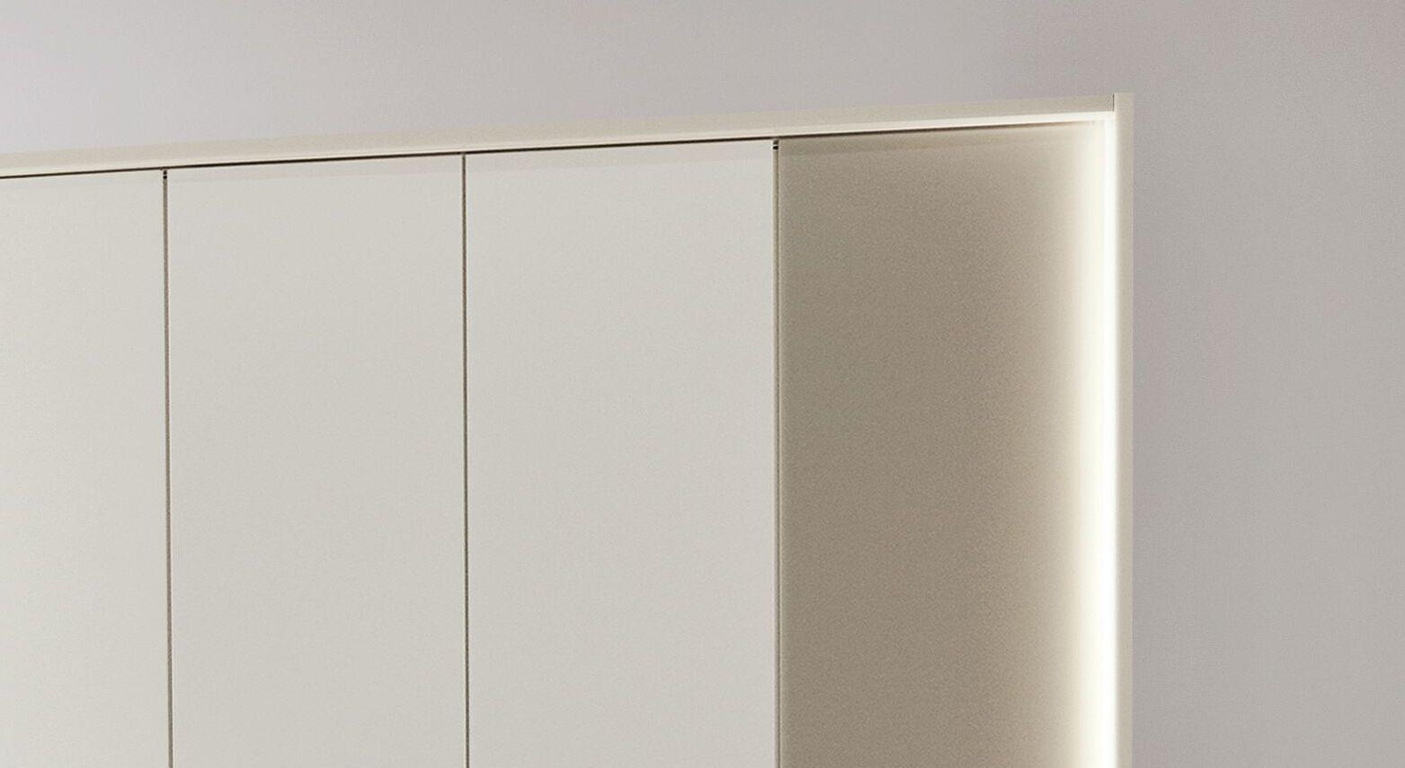 MUSTERRING Drehtüren-Kleiderschrank San Diego Weiß mit optionaler Umrahmung