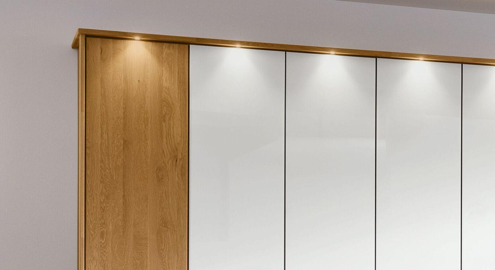 MUSTERRING Drehtüren-Kleiderschrank Savona Weiß nach Belieben ausstatten