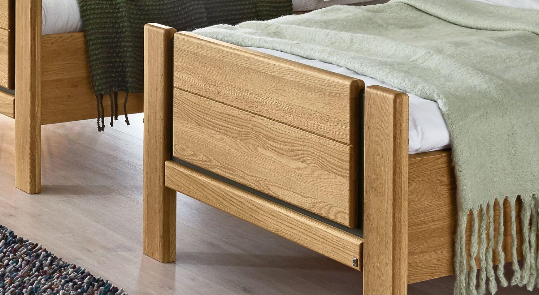 MUSTERRING Komfort-Einzelbett Sorrent mit niedrigem Fußteil