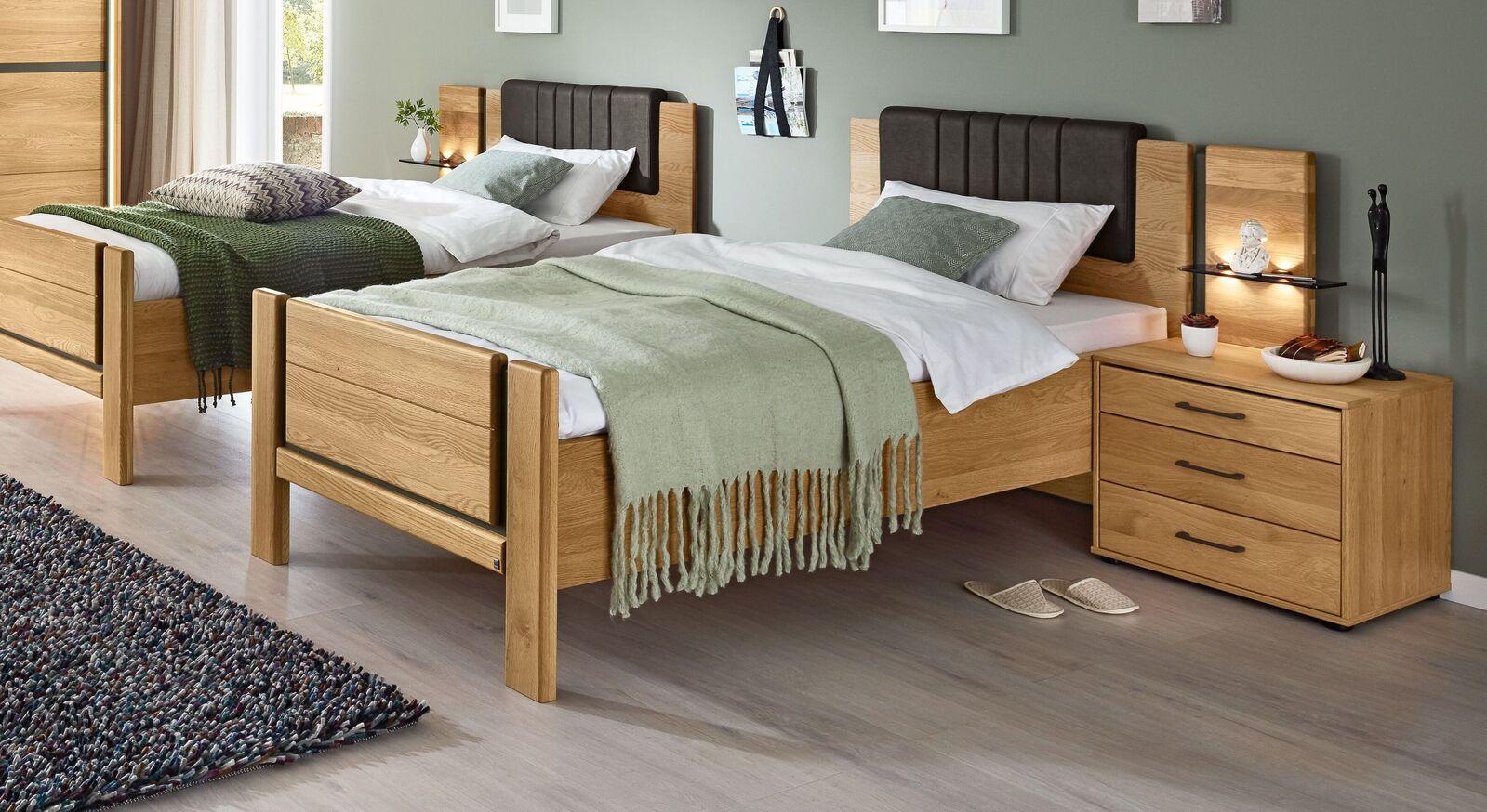 MUSTERRING Komfort-Einzelbett Sorrent optional mit Kopfteilpolster