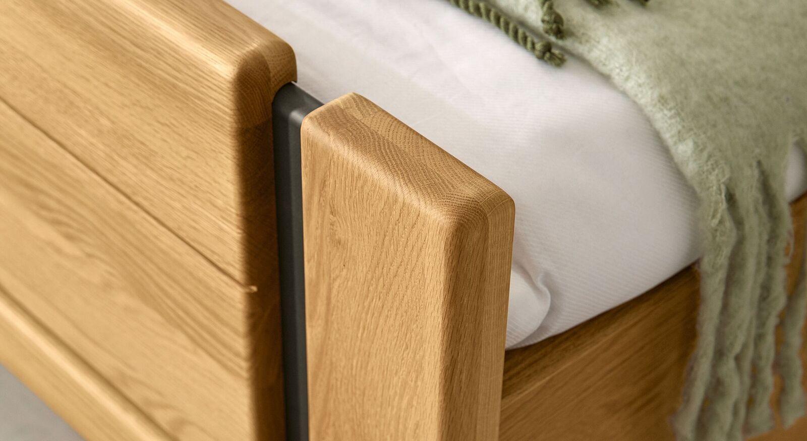 MUSTERRING Komfort-Einzelbett Sorrent mit schiefergrauen Elementen
