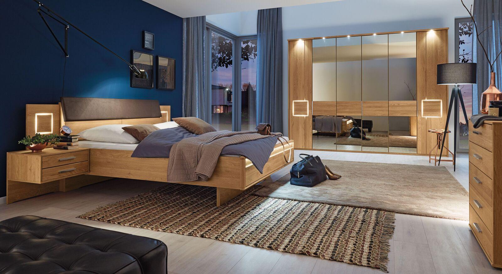 MUSTERRING Schlafzimmer Samoa mit Drehtürenschrank und passenden Möbeln