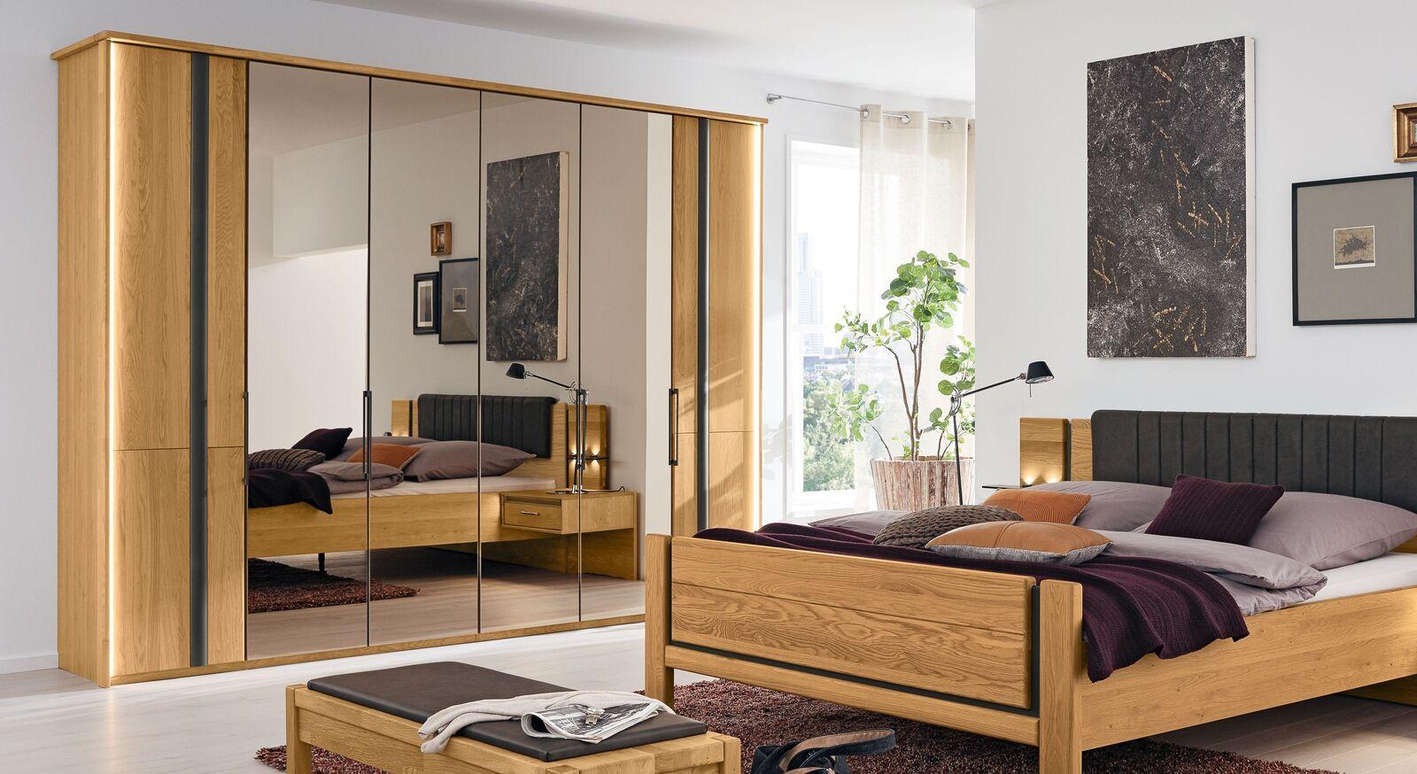 MUSTERRING Schlafzimmer Sorrent 4-tlg. mit elegantem Falttüren-Kleiderschrank