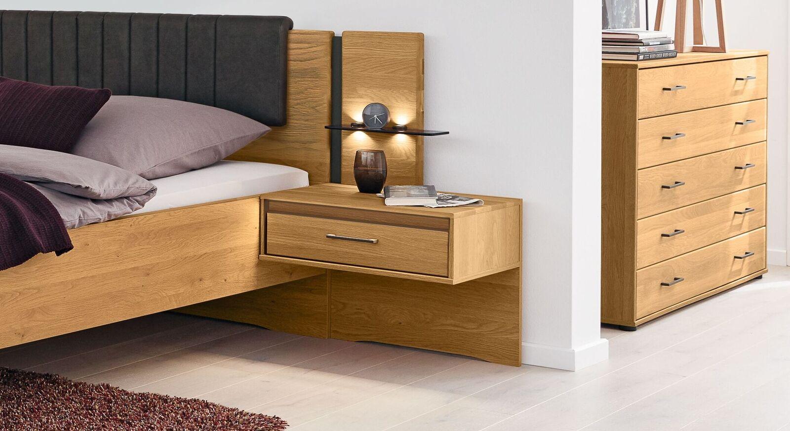 MUSTERRING Schlafzimmer Sorrent 4-tlg. mit Schwebenachttisch und Paneel