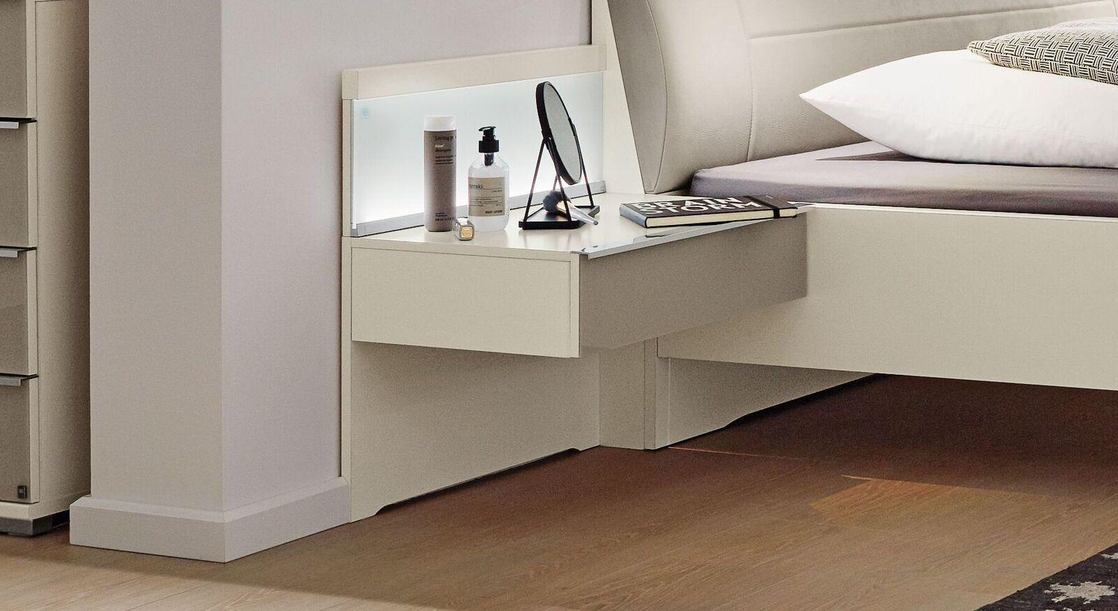 MUSTERRING Schwebenachttisch San Diego Weiß mit optionalem Paneel
