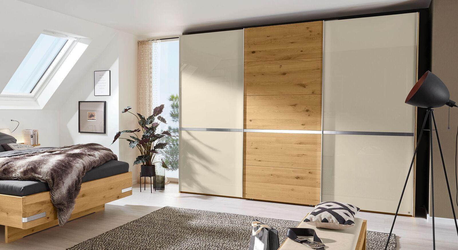 MUSTERRING Schwebetüren-Kleiderschrank Savona 2.0 in zweifarbigem Design