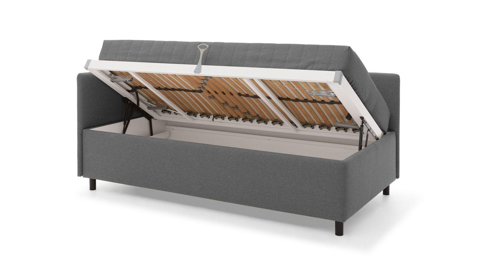 MUSTERRING Studioliege Elpaso mit integriertem Stauraum