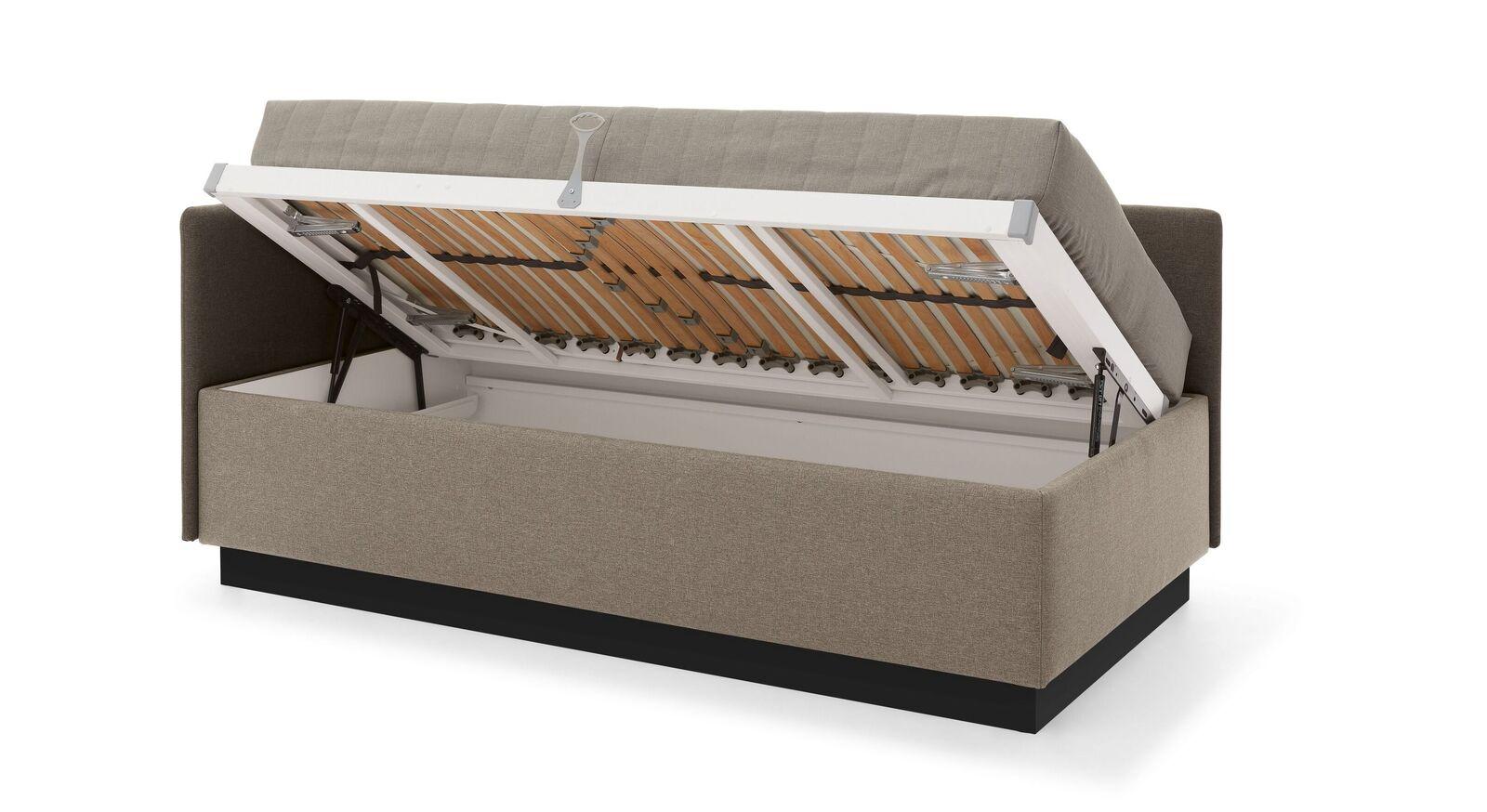 MUSTERRING Studioliege Elpaso mit Sockel und integriertem Stauraum