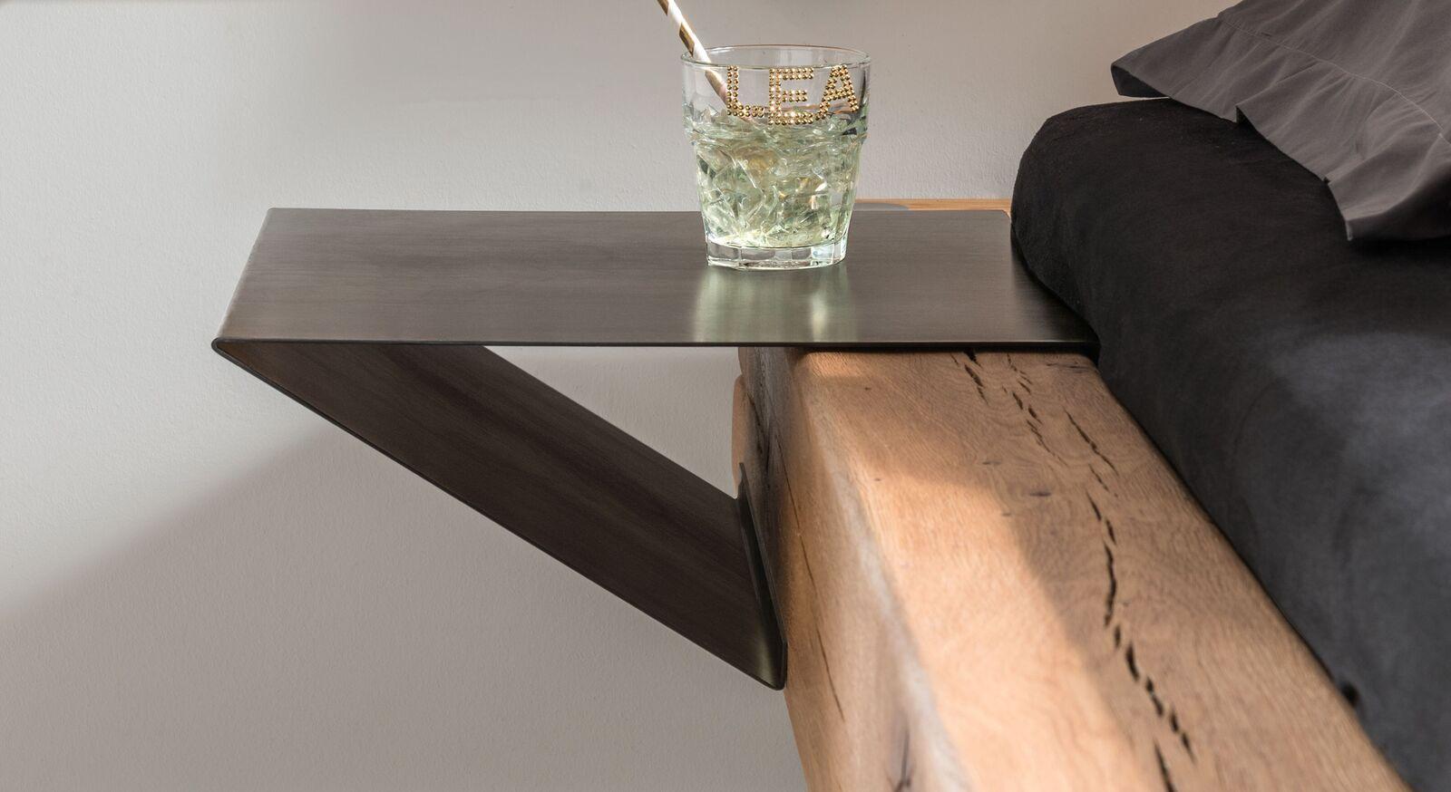 Schwarzer Nachttisch Bimonda aus oxidiertem Metall