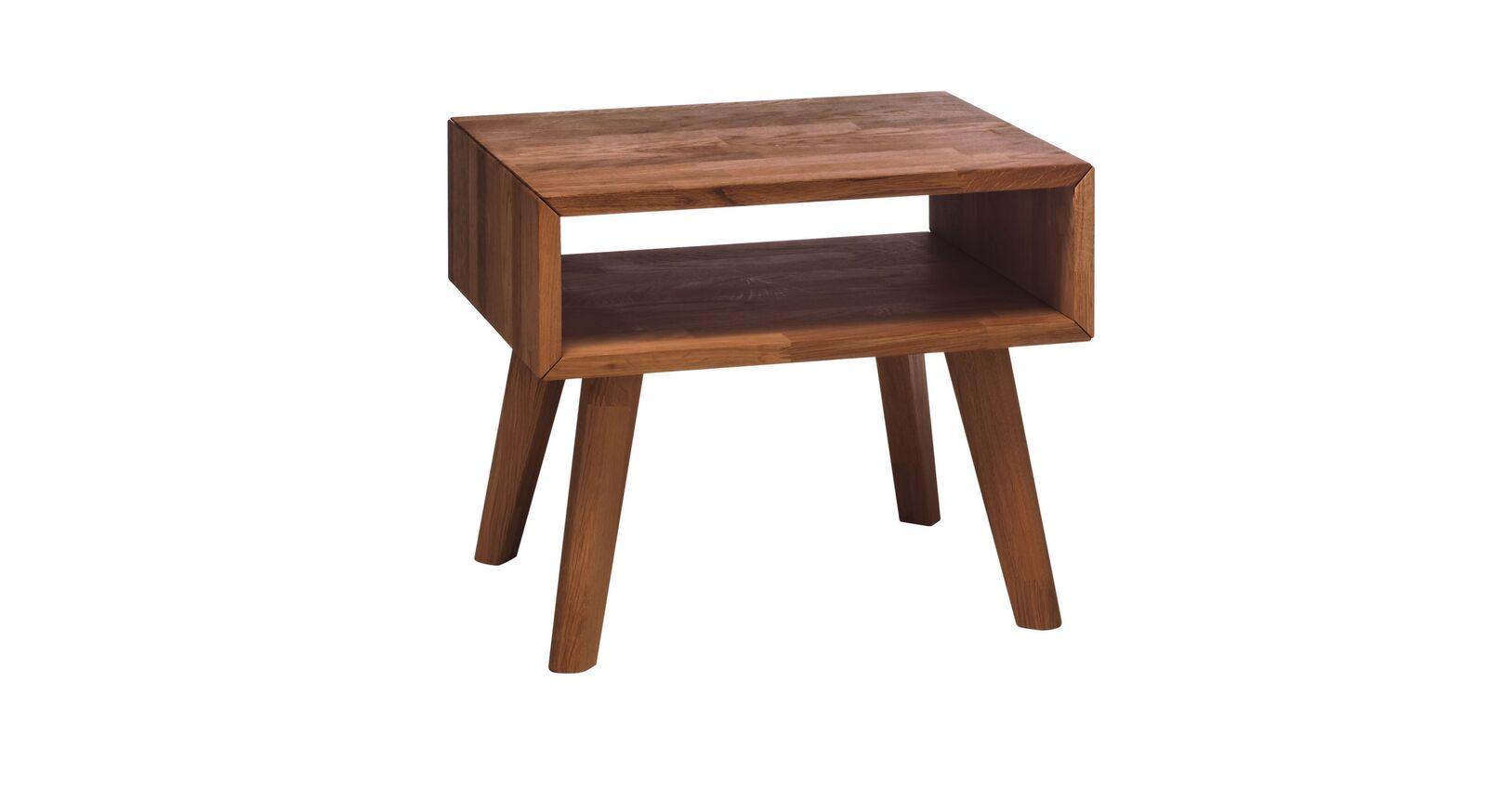 Nachttisch Jacalto mit Fach und ausgestellten Beinen