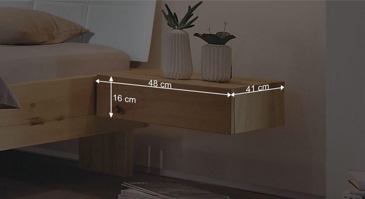 Nachttisch Nemeas Bemaßungsgrafik