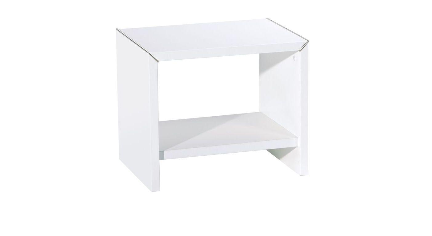 Nachttisch Parla aus weißem Dekor