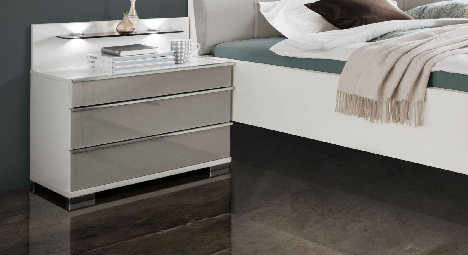 Nachttisch Shanvalley mit attraktiver Glasfront
