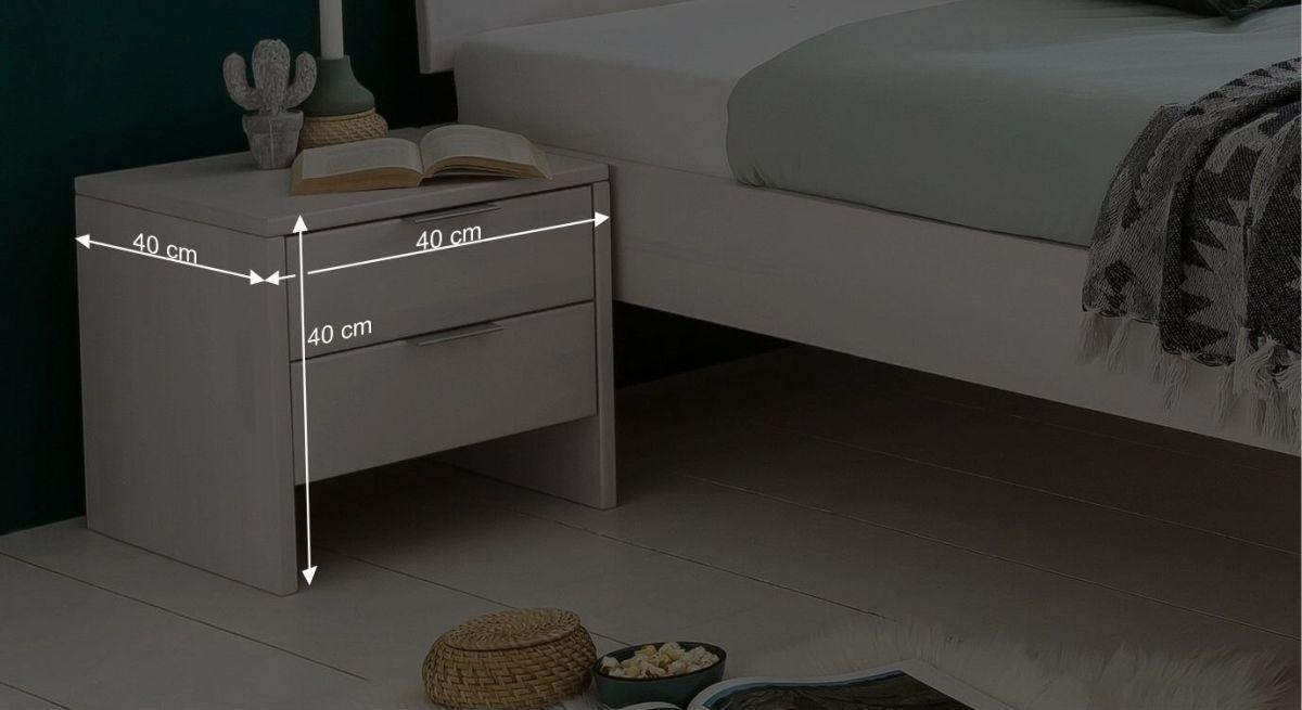 Bemaßungs-Grafik zum Nachttisch Tanu