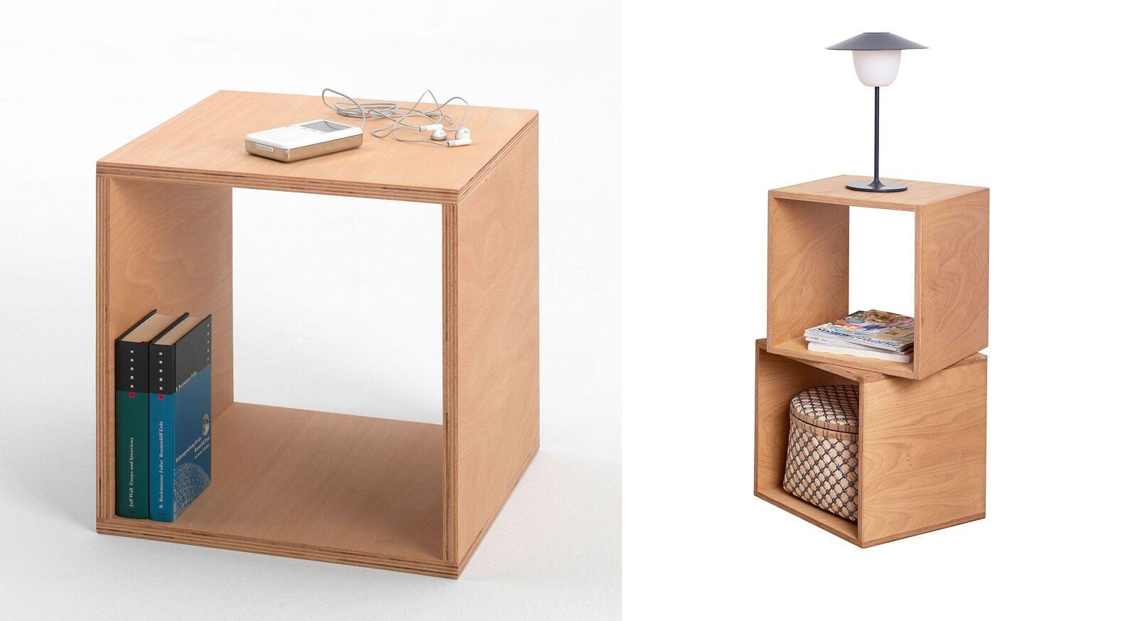 Nachttisch Tojo Cube vielseitig kombinierbar