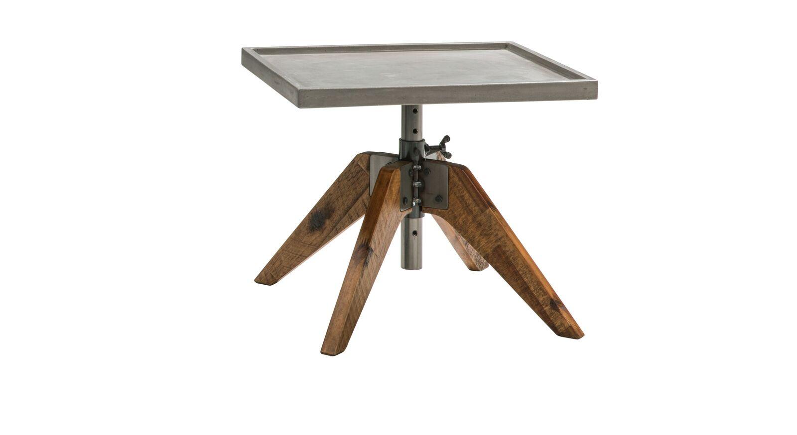Höhenverstellbarer Holz-Nachttisch Velario