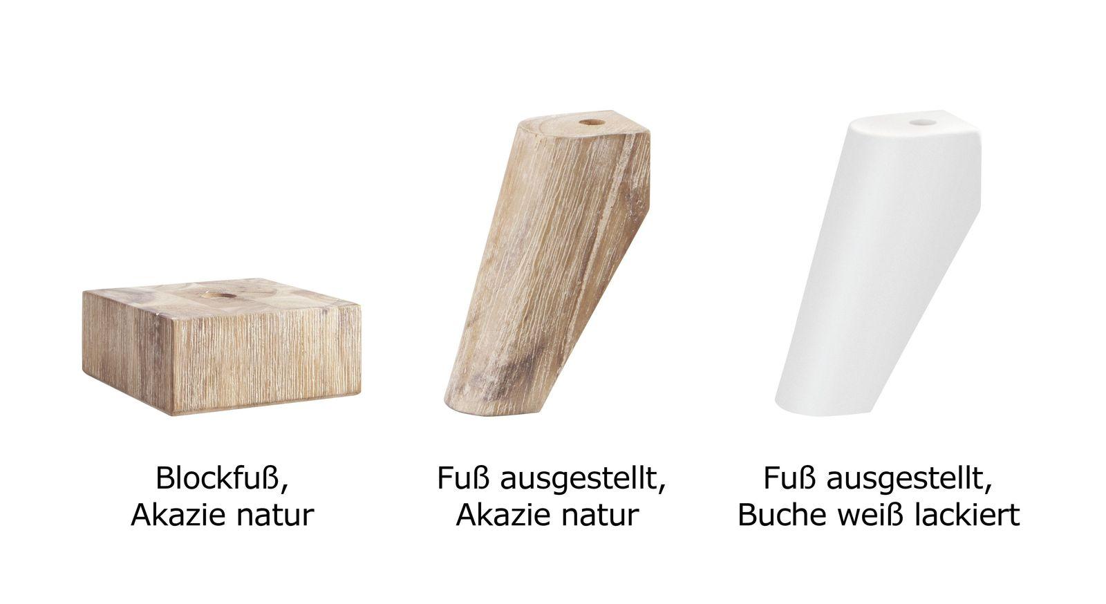 Nachttisch Vesanto mit 3 Fußvarianten zur Auswahl