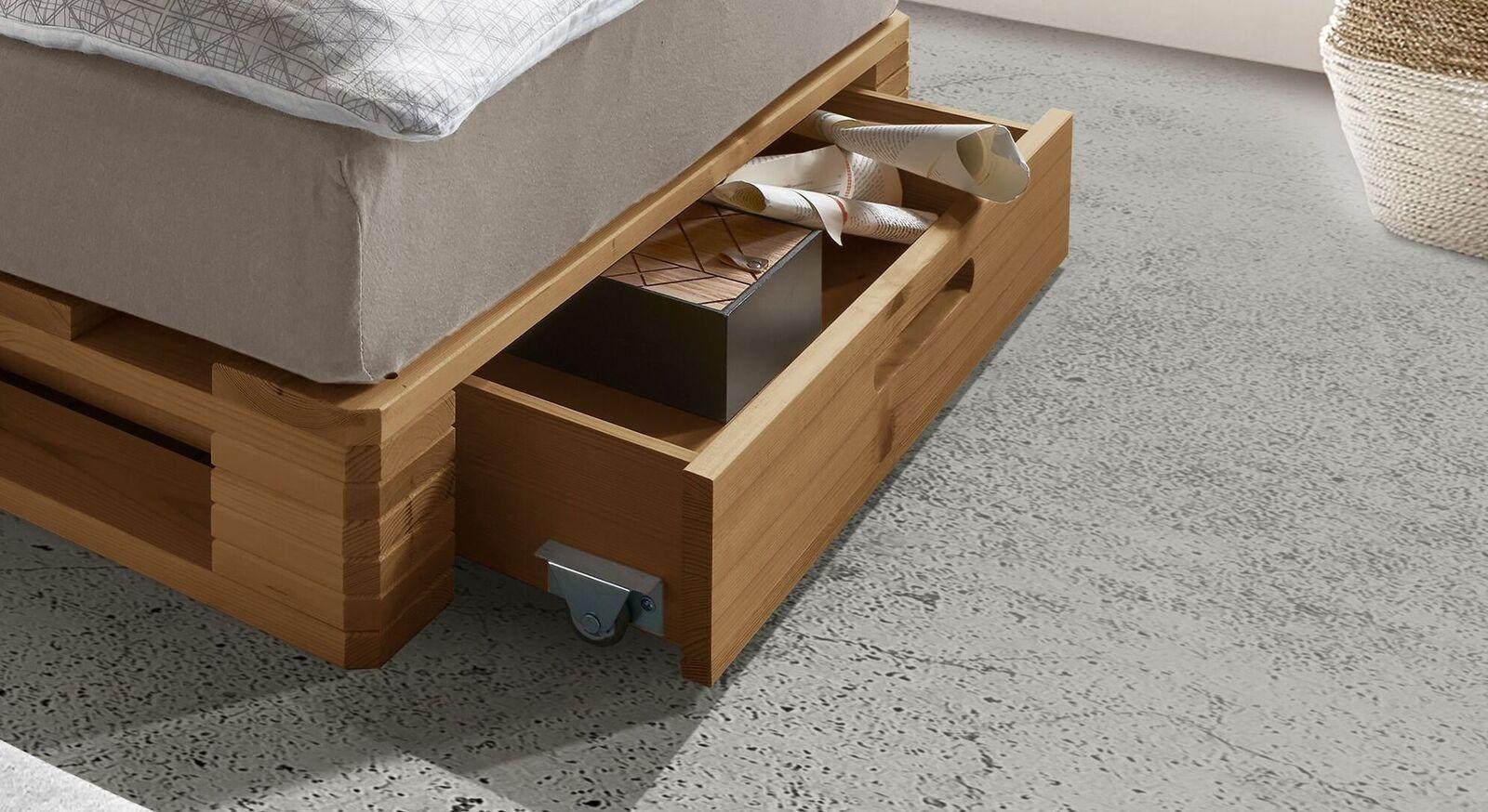 Palettenbett Nimba mit integriertem Stauraum