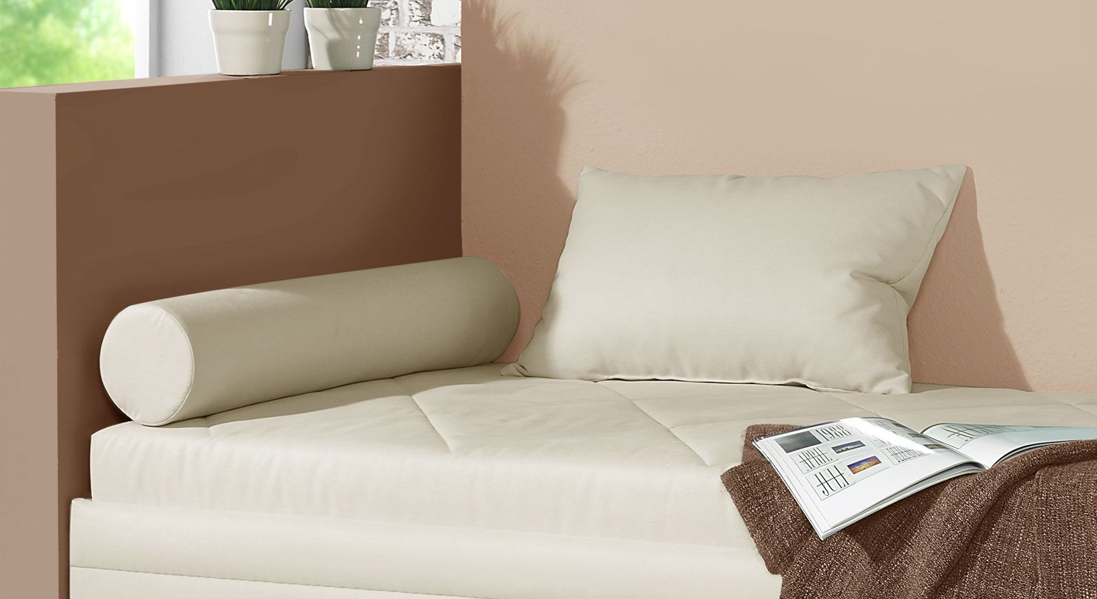 Relaxliege Kamina mit optional erhältlichen weichen Kissen
