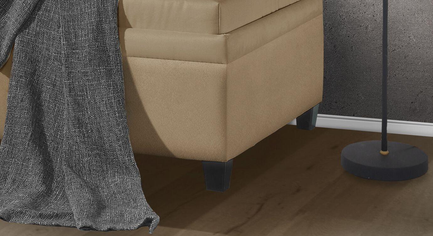 Relaxliege Kamina Komfort mit schwarzen Holzfüßen