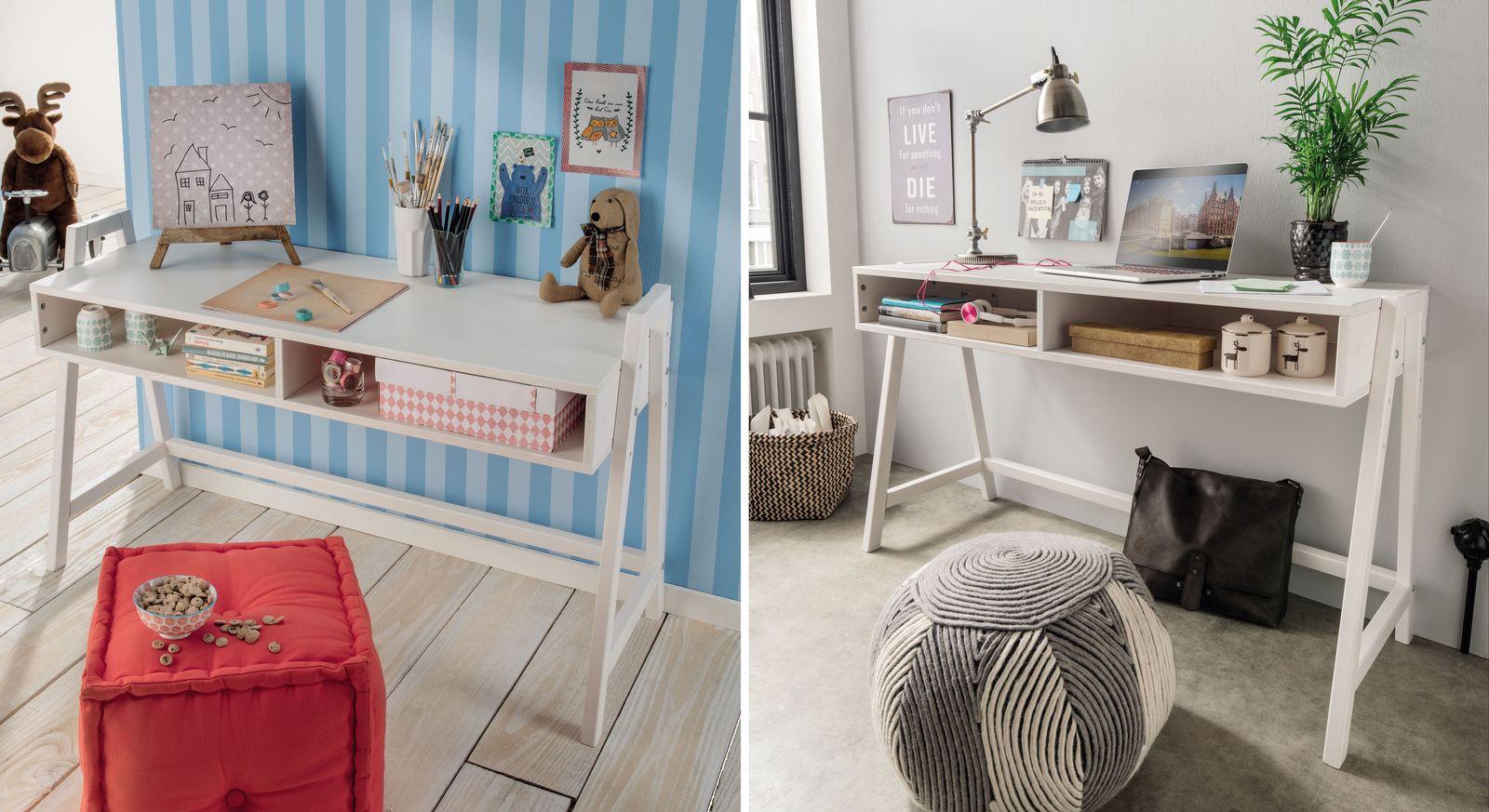 Vielseitiger Retro-Schreibtisch Kids Paradise höhenverstellbar ideal für alle Raumkonzepte