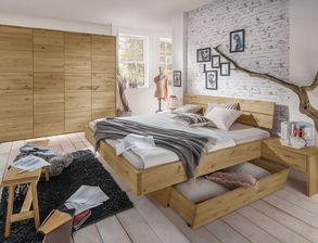 Rustikales Komplett Schlafzimmer Kärnten Aus Massiver Wildeiche