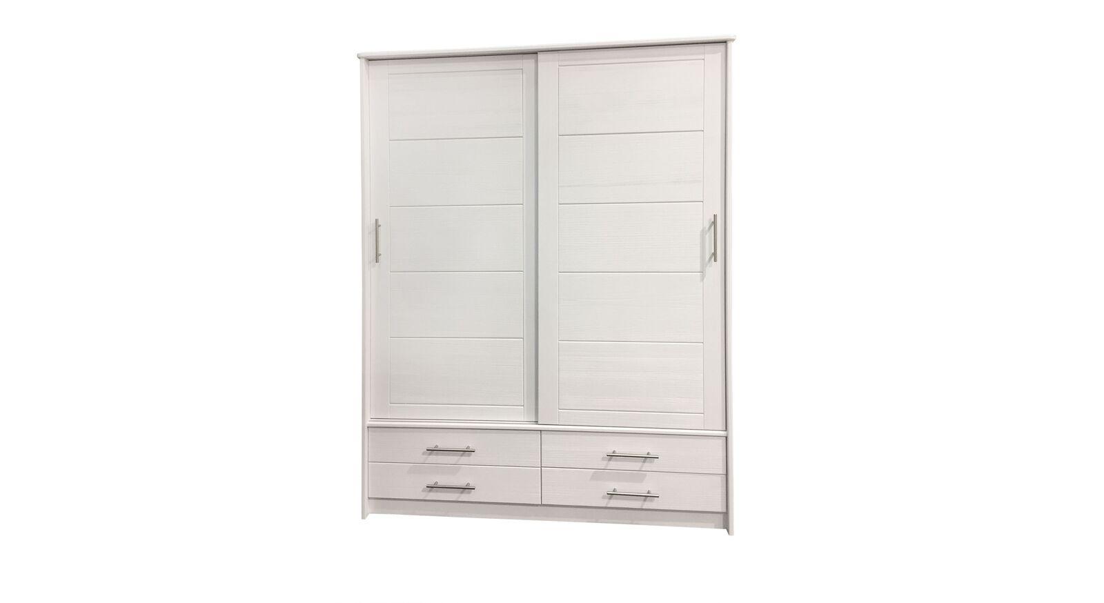 Schiebetüren-Kleiderschrank Ottena inklusive Innenausstattung