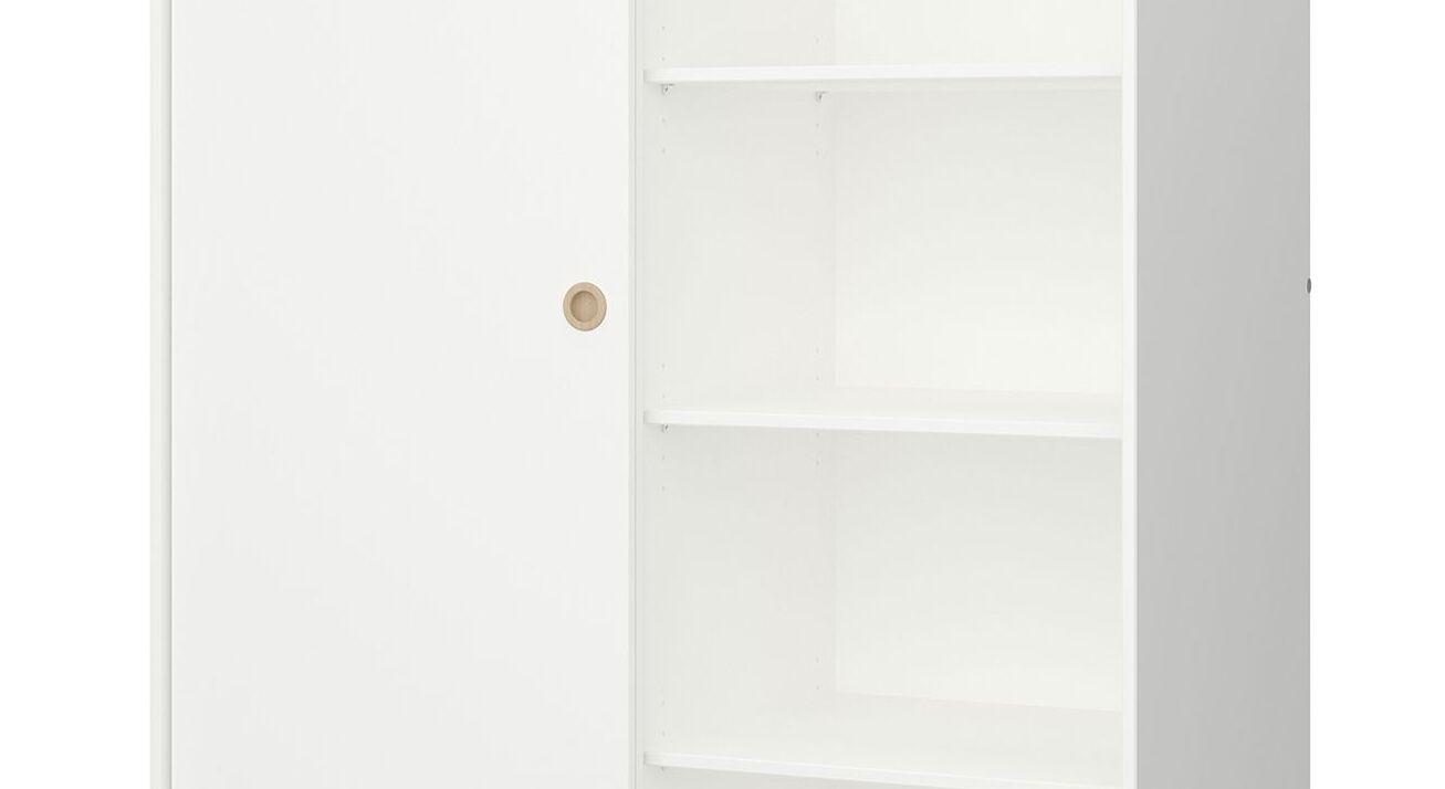 Schiebetüren-Kleiderschrank Zuria inklusive Einlegeböden