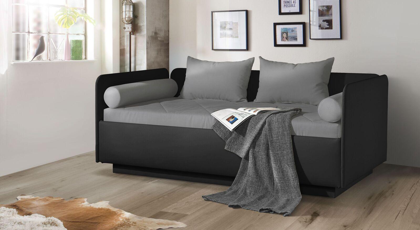 Zweifarbiges Schlafsofa Eriko Komfort mit Matratze