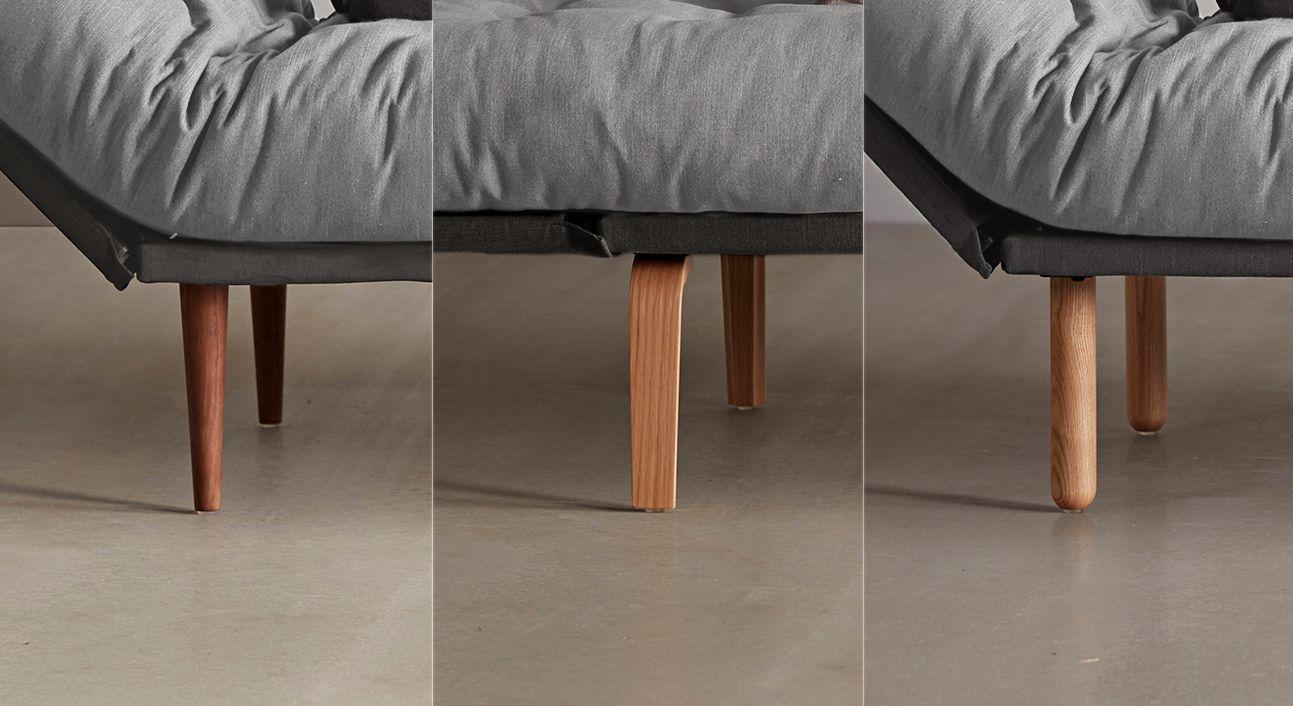 Schlafsofa Oldbury mit stabilen Fußvarianten aus Holz