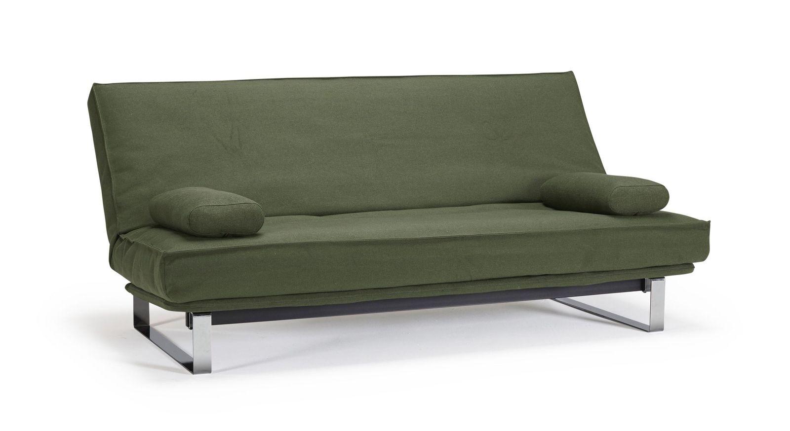Schlafsofa Perano mit dunkelgrünem Twist-Bezug