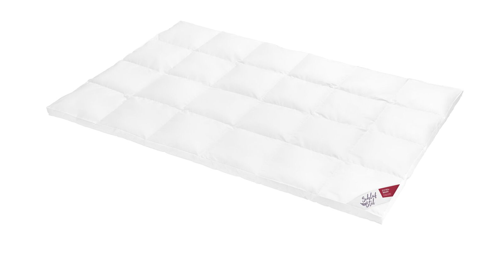 SCHLAFSTIL Daunen-Bettdecke D500 extra warm mit Baumwollbezug