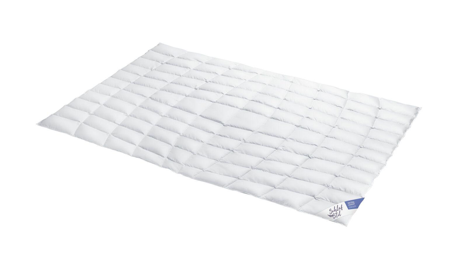 SCHLAFSTIL Eiderdaunen-Bettdecke D1000 extra leicht für schwereloses Schlafen