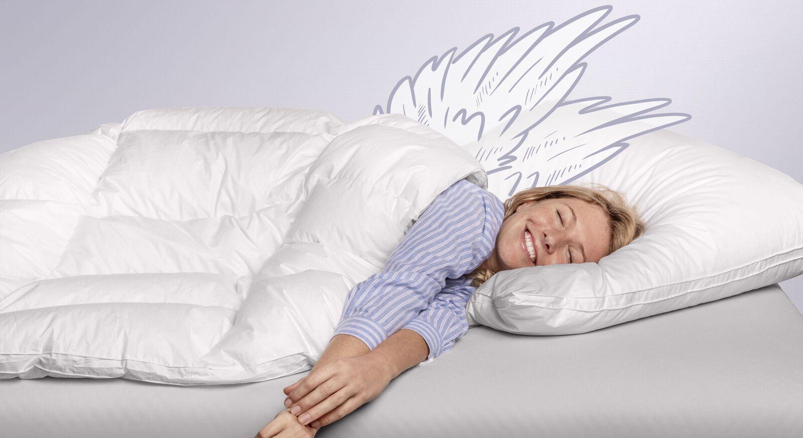 SCHLAFSTIL Eiderdaunen-Bettdecke D1000 in hochwertiger Markenqualität