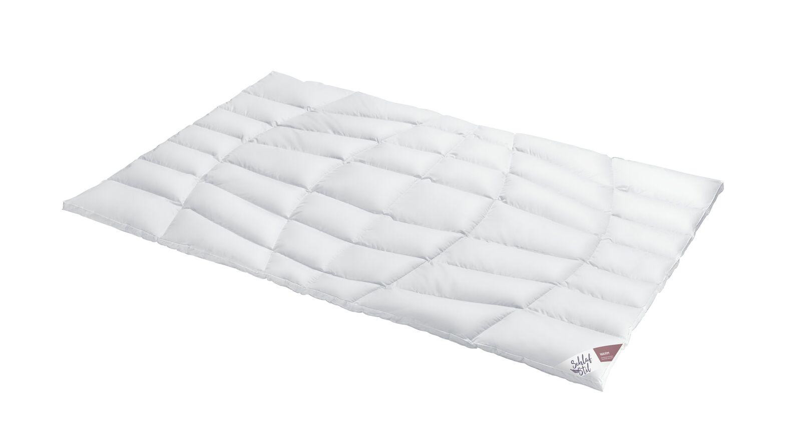 SCHLAFSTIL Eiderdaunen-Bettdecke D1000 warm für hohen Wärmebedarf